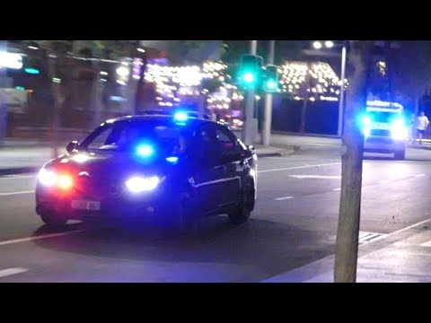 2 Police Cars & Ambulance Responding, Perth W.A.