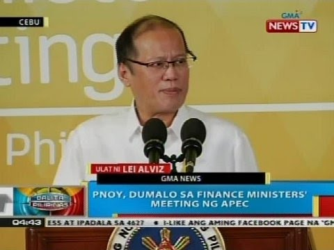PNoy, dumalo sa finance ministers' meeting sa Apec summit sa Cebu