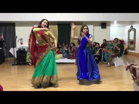3 Bride Dance   LipDub   Tu cheez badi hai mast   Litika & Mudit   YouTube
