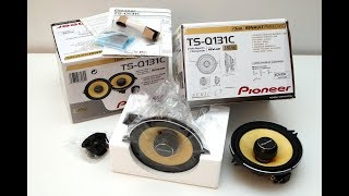 pioneer TS-Q131C car speaker unboxing (vs Renault Megane II original)