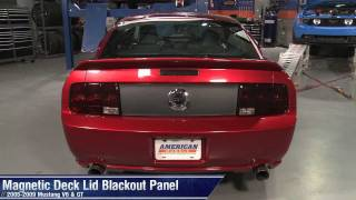 Mustang Magnetic Deck Lid Blackout Panel (05-09 All) Review