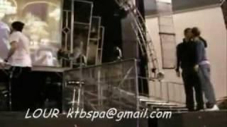Nick kiss Brian - soundcheck Madrid - This is Us Tour BACKSTREET BOYS
