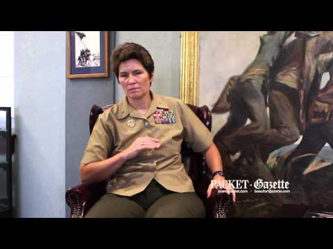 Brig  Gen  Lori Reynolds talks about her time at Parris Island
