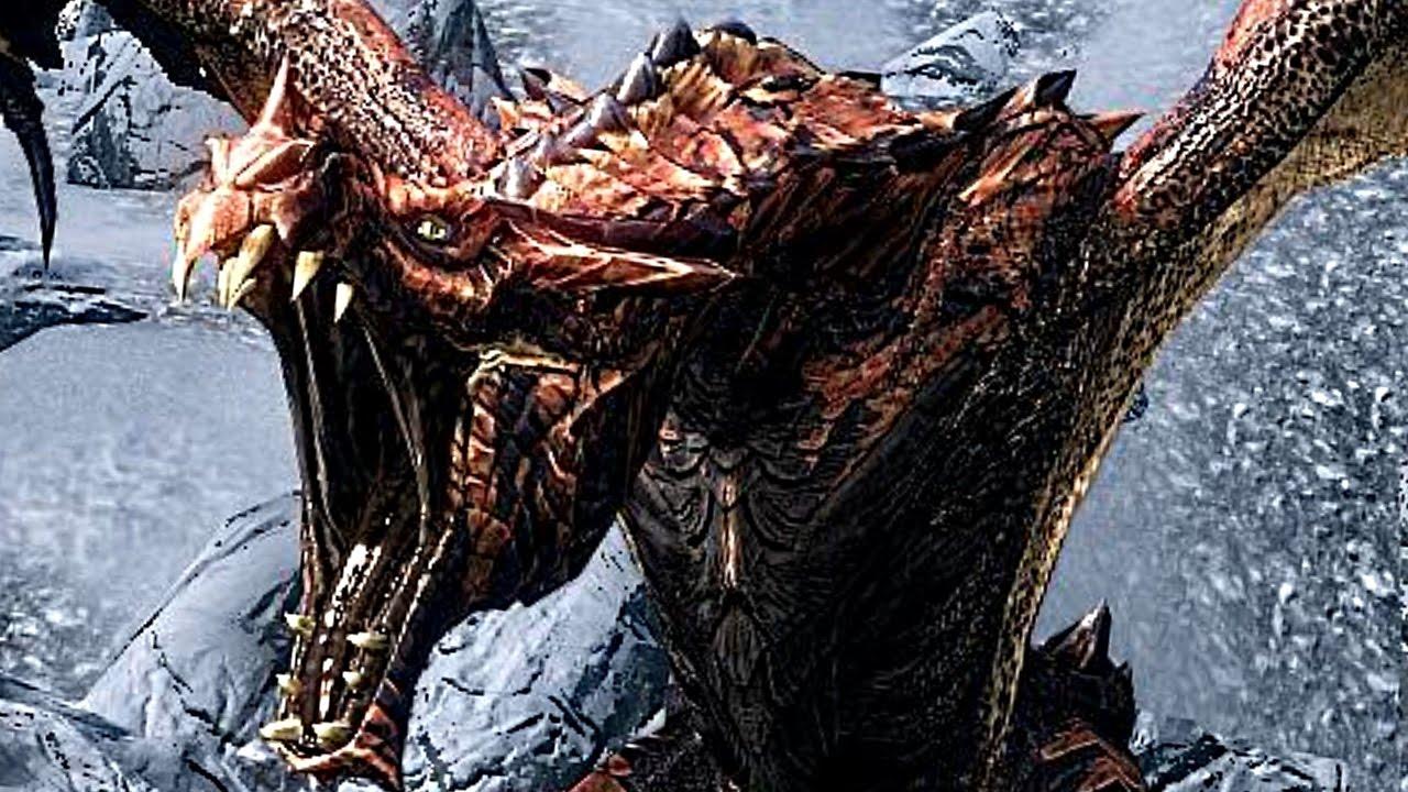 Skyrim Special Edition: DRAGON Encounter! (LEGENDARY ...
