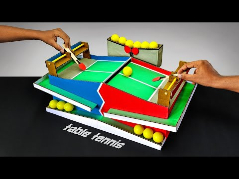 DIY Amazing Table Tennis Multiplayer Game From Cardboard