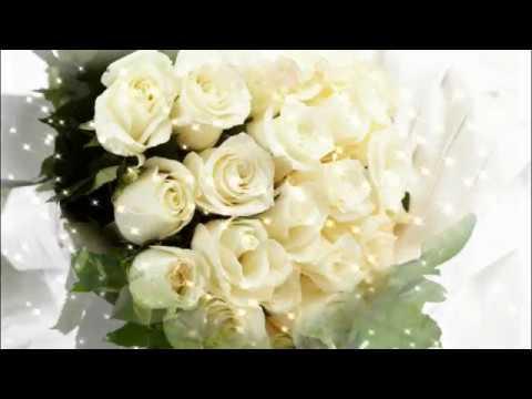 Букет из белых роз. Красивые белые розы и песня для тебя...