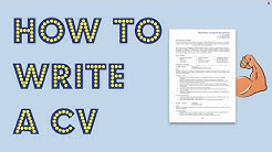 How to write a CV in 2020 [Get noticed by employers]