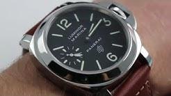 Panerai Luminor Marina Logo PAM 005 Luxury Watch Review