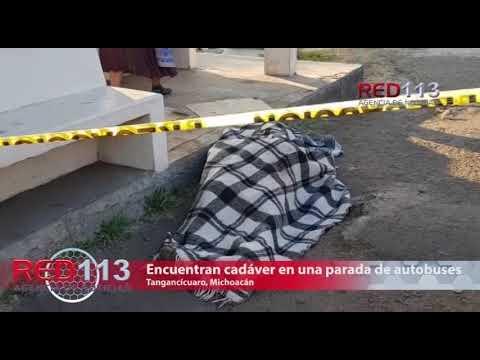 VIDEO Encuentran cadáver en una parada de autobuses de la carretera Zamora-Carapan