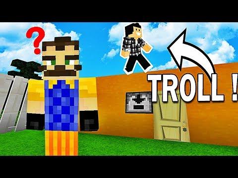 JE TROLL MON VOISIN ! | Hello Neighbor Minecraft