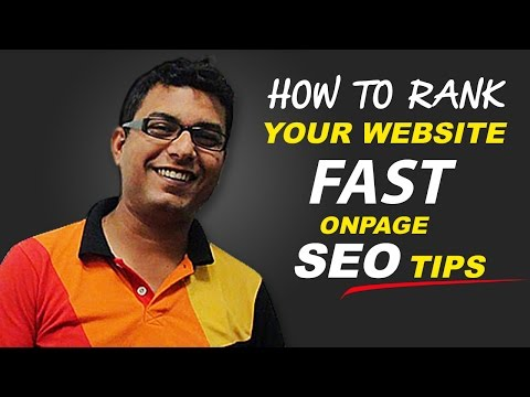 Onpage SEO Tips to Rank Your Website Fast