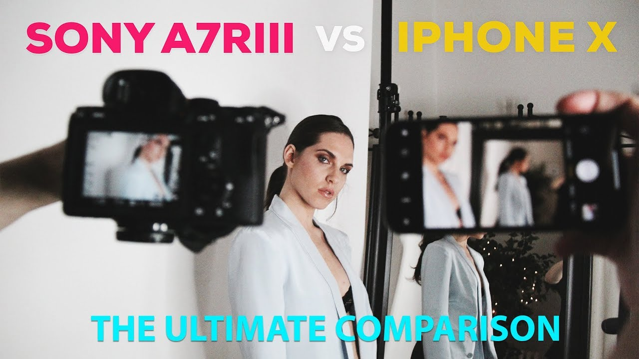 iPhone X vs Sony A7R III camera showdown: There's an app for that