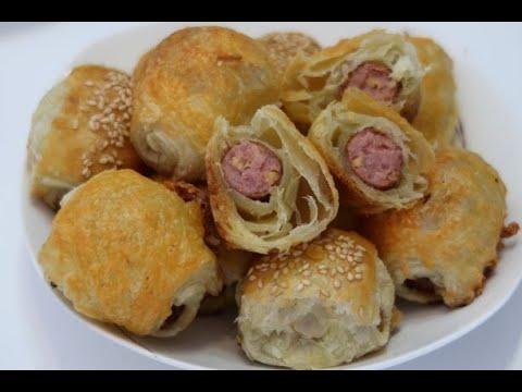 Pastry Sausage Rolls // Bánh Mì Cuộn Xúc Xích // Mini Pastry Sausage Rolls