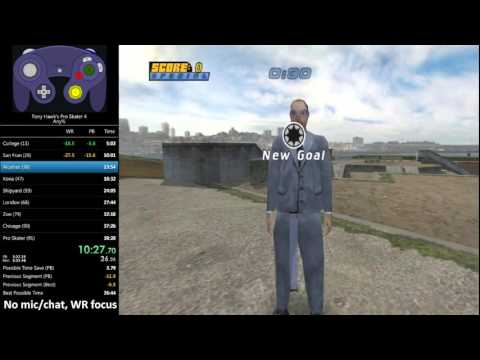 Tony Hawk's Pro Skater 4 Speedrun - World Record in 38:04