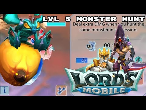 Lords Mobile - Hunting A Lvl 5 Monster