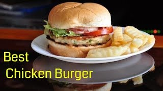 Best And Easiest Chicken Burger Made In 30 Minutes Chicken Burger Recipe Youtube