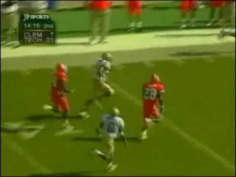 1999 Georgia Tech-Clemson Sean Gregory Long Reception