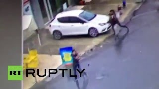 Turkey: CCTV shows 2 women in gun battle with Istanbul police after attack on station
