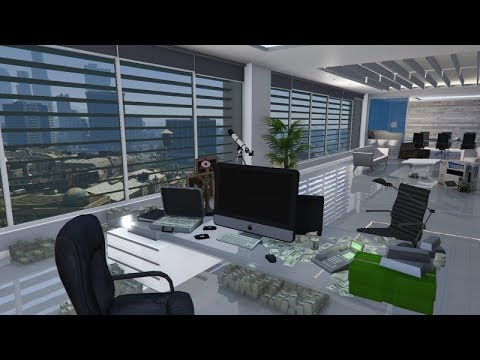 gta5 online changer l 39 int rieur de son bureau de pdg gratuitement youtube. Black Bedroom Furniture Sets. Home Design Ideas