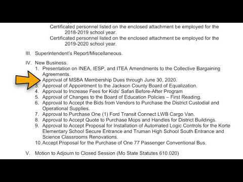 May Board Update in the Independence School District