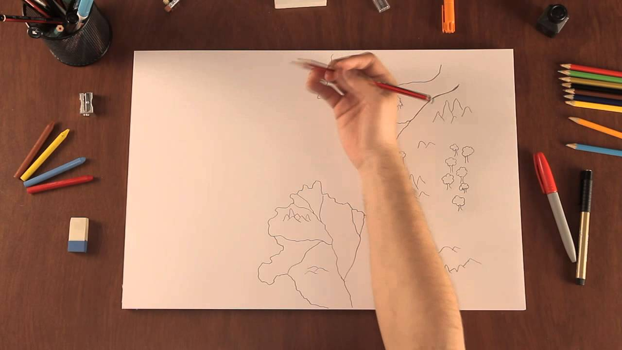 Cómo dibujar mapas originales de fantasía para tu ficción - YouTube
