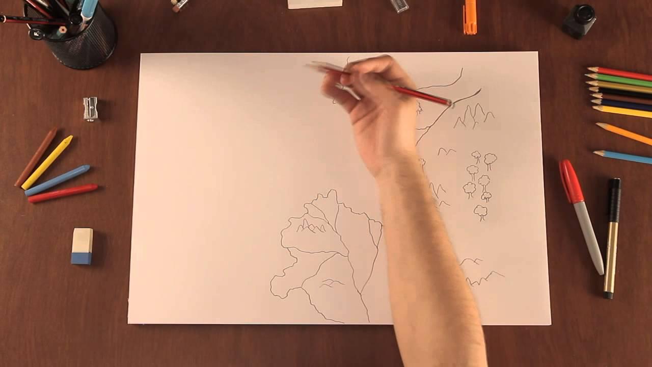 Cmo dibujar mapas originales de fantasa para tu ficcin  YouTube