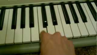 How to play Kurdish song on keyboard (Ay way zara gyan)