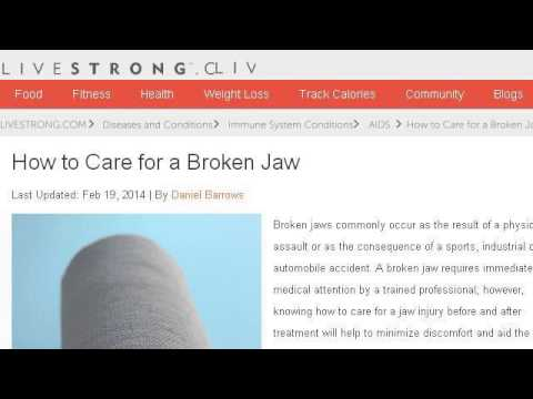 How-To Care For A Broken Jaw