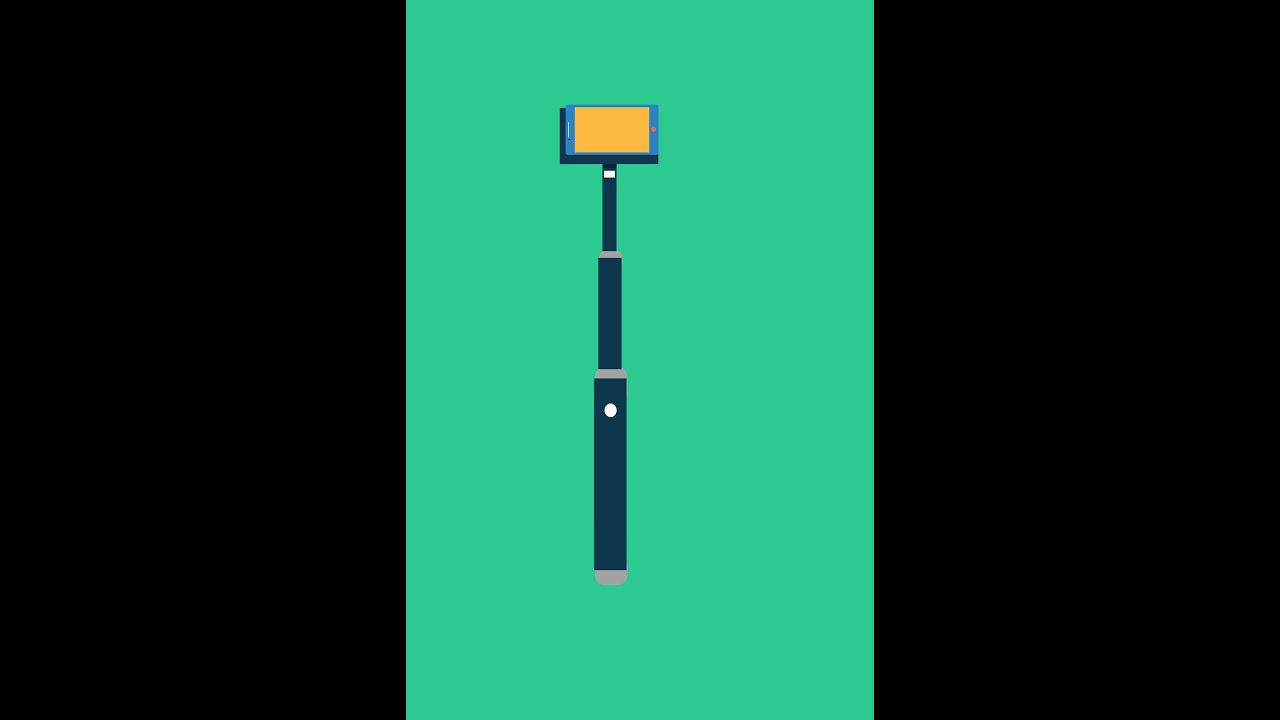selfie stick flat art tutorial youtube. Black Bedroom Furniture Sets. Home Design Ideas