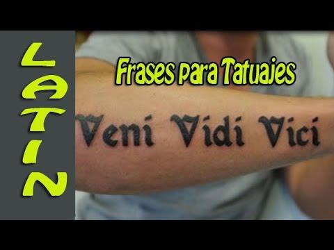 Frases Para Tatuajes En Latin Youtube