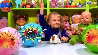 ✔ Кукла Беби Борн и Ярослава лопают шарики — сюрпризы / Doll Baby Born with Yaroslava ✔