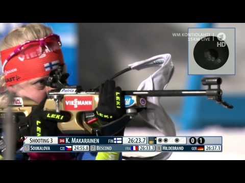 KAISA MÄKÄRÄINEN BRONZE 15 km Individual WM Kontiolahti 2015
