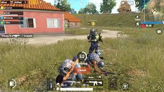 PUBG Mobile !!! satu squad sama cheater  dari india ngakak bisa terbang (emulator)