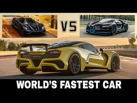 Venom F5 vs Agera RS vs Chiron: Battle for the 300 mph Max Speed Record