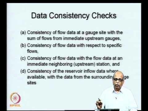 Mod-08 Lec-36 Data Consistency Checks -I