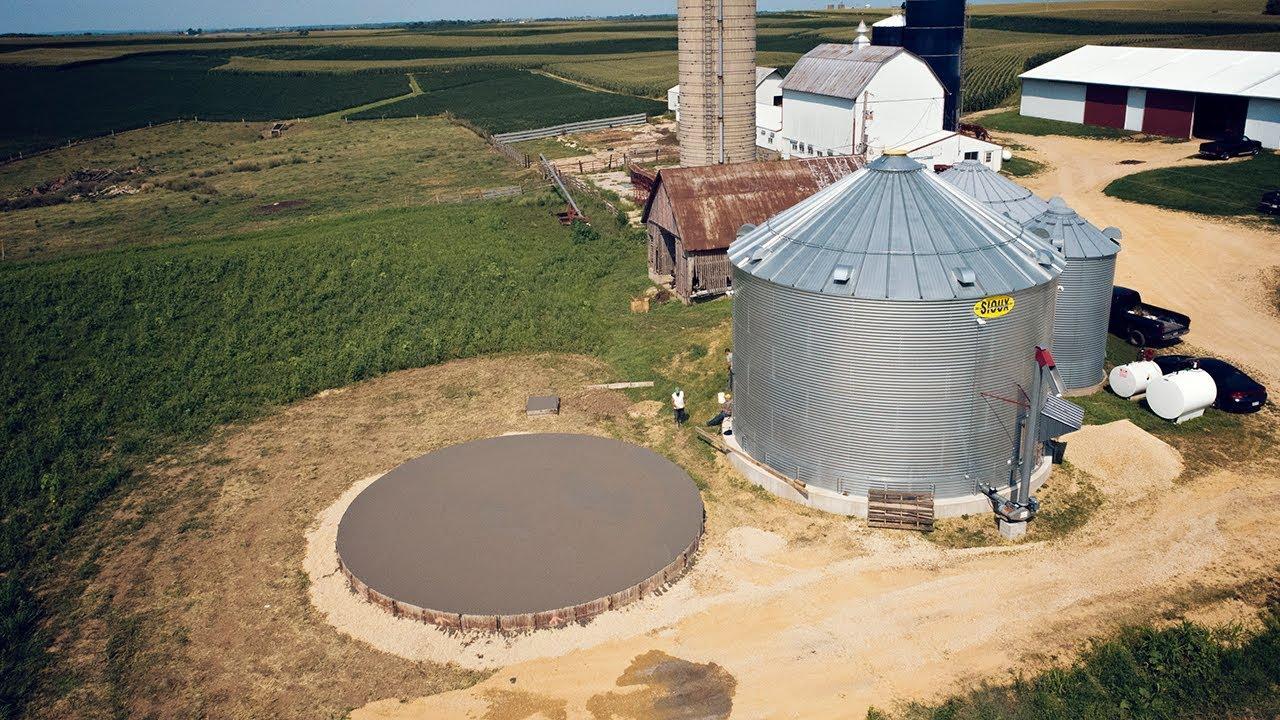 Building Grain Bins - Concrete Foundation