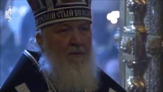 Orthodox Patriarch Cyril cries during Lent Divine Liturgy