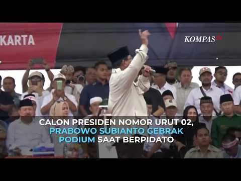 Momen Prabowo Gebrak Podium