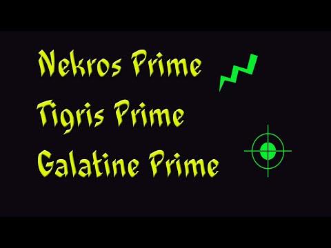 Warframe PS4 Nekros Prime Is Confirmed! - Nekros Prime, Tigris Prime & Galatine Prime!