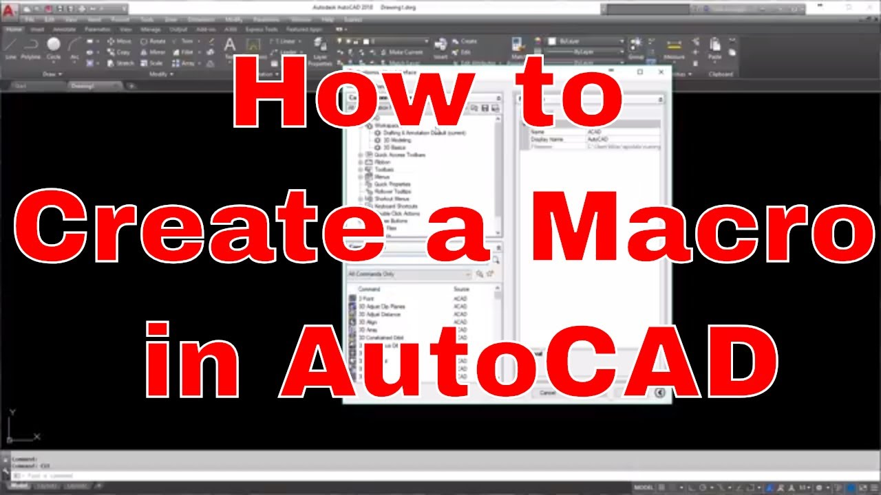 Creating Macros in AutoCAD