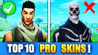 TOP 10 FORTNITE SKINS WITH THE PRO PLAYER PLAY!! - Fortnite Battle Royale