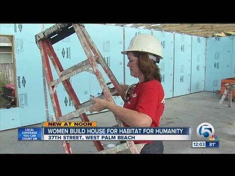 Women build house for Habitat for Humanity in West Palm Beach