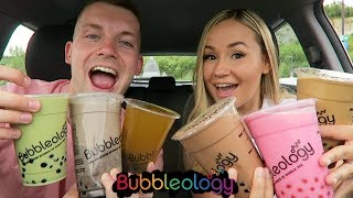 RATING & TASTE TESTING POPULAR BUBBLE TEAS!! *Boba drinks*