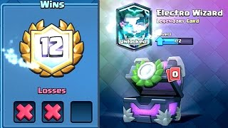 Clash Royale - 12 WIN ELECTRO WIZARD DECK! First Try