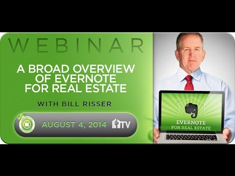 Evernote Webinar #1 - A Broad Overview 8.4.14