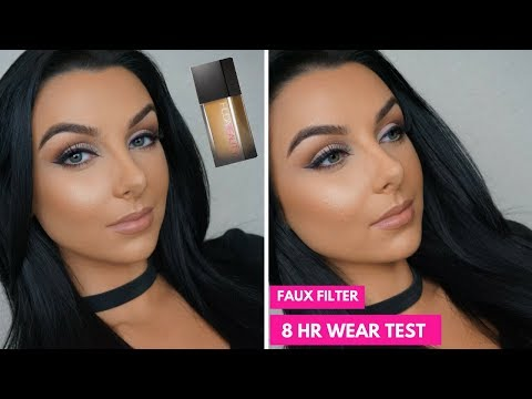 HUDA BEAUTY FAUX FILTER FOUNDATION REVIEW + WEAR TEST | Serena Cleary