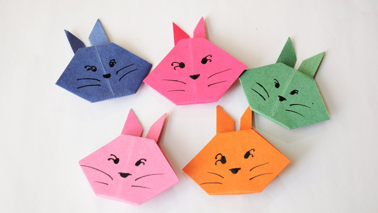 how to make an origami bunny easy tutorial youtube