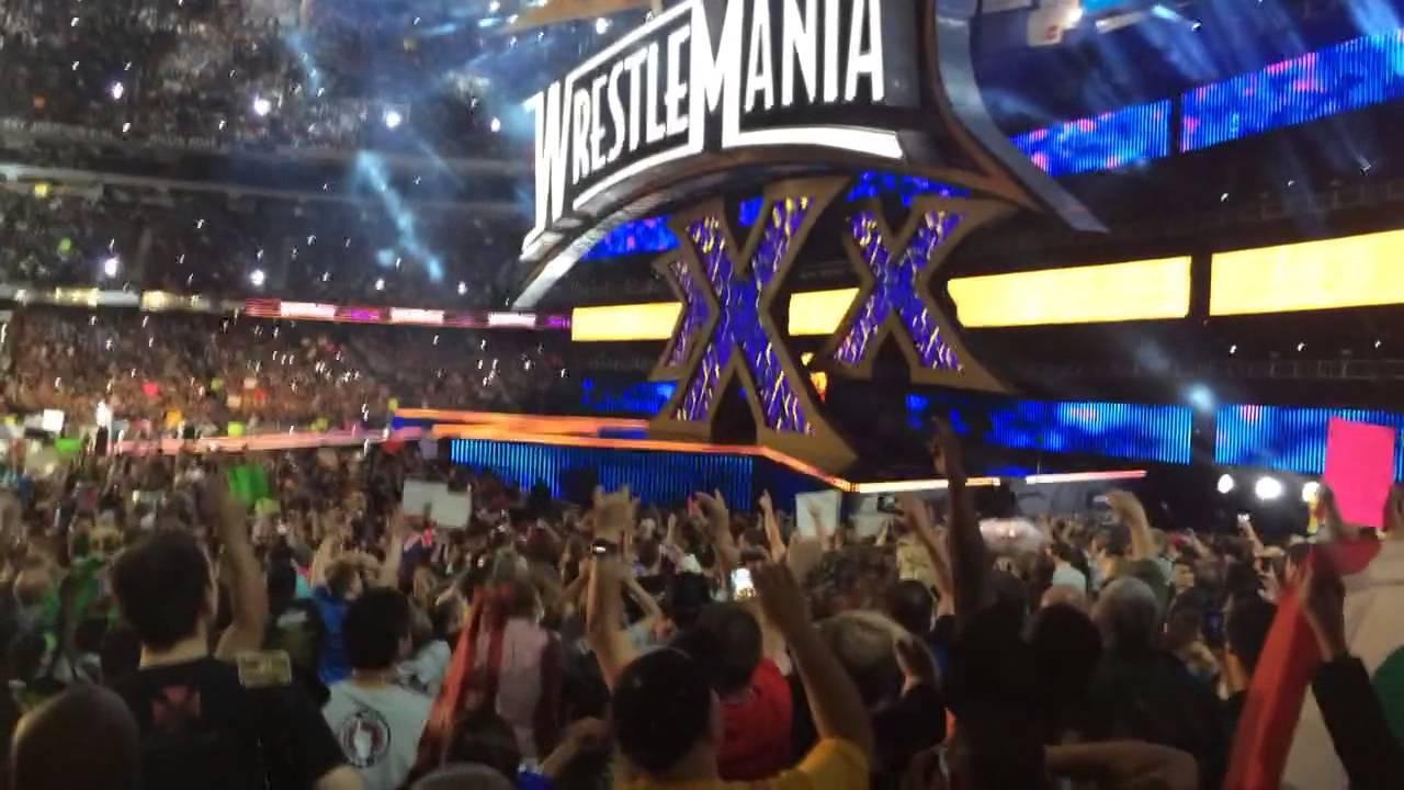 wrestlemania 30 live intro pyro