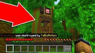 We DESTROYED SIREN HEAD in Minecraft Pocket Edition! *SCARY*