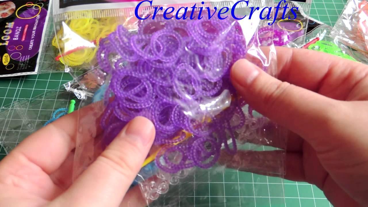 80daa58fd0b2 Nuevas gomitas con bolitas para pulseras. Rainbow Loom rubber bands.